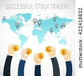 successful trader.... | Shutterstock .eps vector #422418832