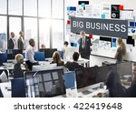 big business global business... | Shutterstock . vector #422419648