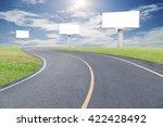 blank billboard for your... | Shutterstock . vector #422428492