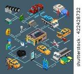 auto repair infographics... | Shutterstock .eps vector #422428732