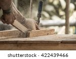 handmade furniture workshop... | Shutterstock . vector #422439466