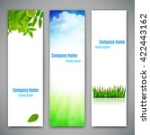set of three banners with... | Shutterstock .eps vector #422443162