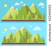 mountain landscapes with pine... | Shutterstock .eps vector #422444332