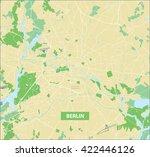 highly detailed vector street... | Shutterstock .eps vector #422446126