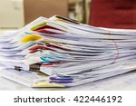 paper documents stacked in... | Shutterstock . vector #422446192