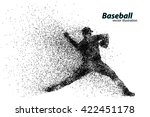 silhouette of a baseball player ... | Shutterstock .eps vector #422451178