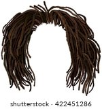 african hair dreadlocks ... | Shutterstock .eps vector #422451286