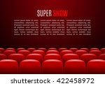 movie theater with row of red... | Shutterstock .eps vector #422458972