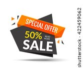 sale banner. marketing... | Shutterstock .eps vector #422459062
