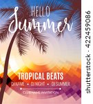 hello summer beach party.... | Shutterstock .eps vector #422459086