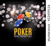 shining casino poker banner...   Shutterstock .eps vector #422459116