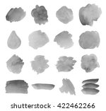 set watercolor ink grey vector... | Shutterstock .eps vector #422462266