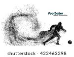 silhouette of a football player ... | Shutterstock .eps vector #422463298