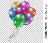 collection of colored balloons   Shutterstock .eps vector #422463412