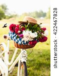 Close Up Of Bicycle Basket Wit...