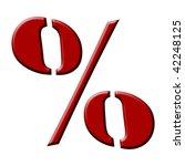 wax font  percent | Shutterstock . vector #42248125