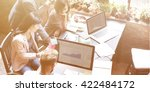 business team discussion data...   Shutterstock . vector #422484172