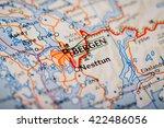 map photography  bergen city on ... | Shutterstock . vector #422486056