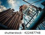 drilling rig | Shutterstock . vector #422487748