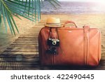 concept of summer traveling... | Shutterstock . vector #422490445