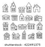 hand drawn house vector set | Shutterstock .eps vector #422491375