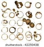 grungy stains collection | Shutterstock . vector #42250438