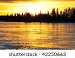 Lakeside Sunset View In Elk...