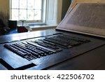 an old letterpress printing... | Shutterstock . vector #422506702