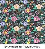 beautiful pattern in small... | Shutterstock .eps vector #422509498