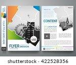 brochure design template vector.... | Shutterstock .eps vector #422528356