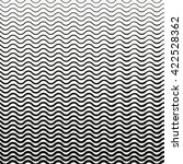black  wavy halftone lines on a ... | Shutterstock .eps vector #422528362