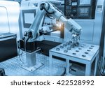 robotic hand machine tool at... | Shutterstock . vector #422528992