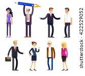 vector detailed characters... | Shutterstock .eps vector #422529052