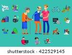 vector detailed character...   Shutterstock .eps vector #422529145