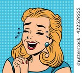 emoji retro laughter joy joke... | Shutterstock .eps vector #422529322