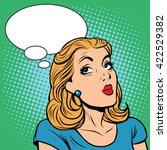 Emoji Retro Think Girl Emoticons