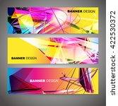 set of colorful flyer  brochure ...   Shutterstock .eps vector #422530372