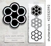 celtic knots patterns on a...   Shutterstock .eps vector #422532592