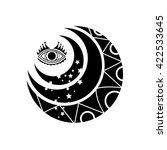 the moon | Shutterstock .eps vector #422533645