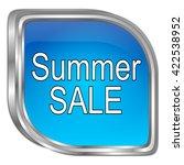 summer sale button   3d... | Shutterstock . vector #422538952