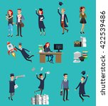 vector character graduate and... | Shutterstock .eps vector #422539486