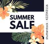 summer tropical hawaiian... | Shutterstock .eps vector #422543116