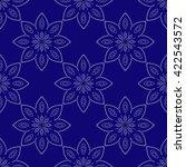 blue mandala. patterned design...   Shutterstock .eps vector #422543572