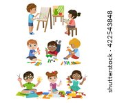 kids learning craft set of... | Shutterstock .eps vector #422543848
