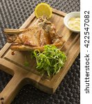 Small photo of Veal chop, pinenuts & anchovy aioli, watercress & lemon
