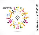 creative circle abstract vector ... | Shutterstock .eps vector #422548372