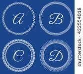 vector set of monogram emblems... | Shutterstock .eps vector #422554018