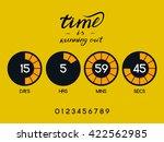 countdown timer for the website.... | Shutterstock .eps vector #422562985