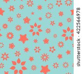 seamless floral pattern with... | Shutterstock .eps vector #422566978