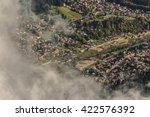 settlement aerial view | Shutterstock . vector #422576392